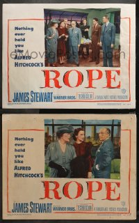 3g0755 ROPE 2 LCs 1948 Farley Granger & John Dall, James Stewart, Alfred Hitchcock classic!