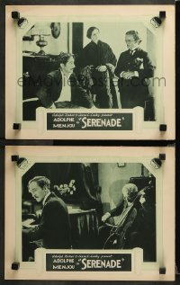3g0758 SERENADE 2 LCs 1927 Adolphe Menjou thinks about Lina Basquette, who isn't his wife!