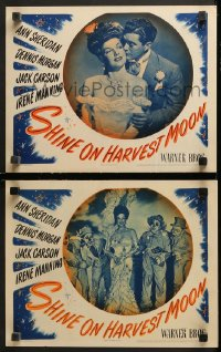 3g0759 SHINE ON HARVEST MOON 2 LCs 1944 sexy Ann Sheridan with Dennis Morgan and wacky scarecrows!
