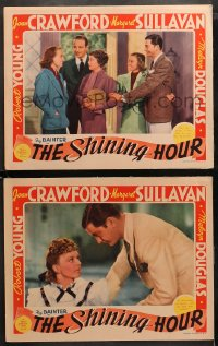 3g0760 SHINING HOUR 2 LCs 1938 great images of Douglas, Joan Crawford, Sullavan, Young & Bainter!