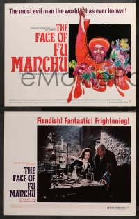 3g0030 FACE OF FU MANCHU 9 LCs 1965 Asian villain Christopher Lee, from Sax Rohmer novel!