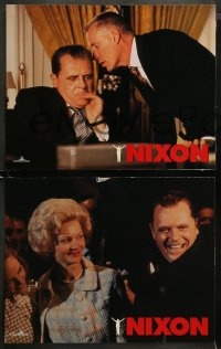 3g0037 NIXON 9 LCs 1995 Anthony Hopkins as Richard Nixon, James Woods, directed by Oliver Stone!