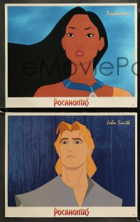 3g0002 POCAHONTAS 16 LCs 1995 Walt Disney, Native American Indians, great cartoon images!