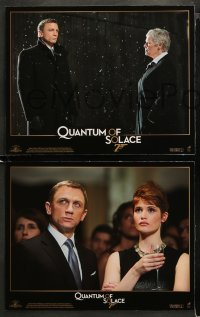 3g0281 QUANTUM OF SOLACE 8 LCs 2008 three great images of Daniel Craig as secret agent James Bond 007!