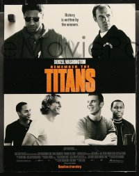 3g0015 REMEMBER THE TITANS 11 LCs 2000 Denzel Washington, Will Patton, Disney, football!