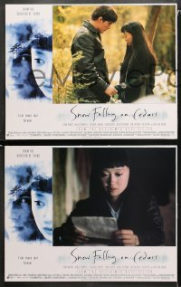 3g0009 SNOW FALLING ON CEDARS 12 LCs 1999 Ethan Hawke, Cromwell, Youki Kudoh, interracial love!