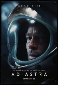 3h0245 AD ASTRA style B teaser DS 1sh 2019 Brad Pitt, the answers we seek are just outside our reach!