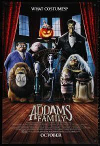 3h0246 ADDAMS FAMILY advance DS 1sh 2019 Chloe Grace Moretz, Theron, Garcia, Isaac, great image!