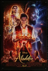 3h0248 ALADDIN advance DS 1sh 2019 Walt Disney, Ritchie, Smith as the Genie, Massoud in title role!