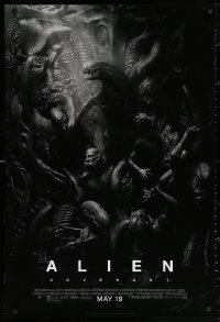 3h0249 ALIEN COVENANT style D advance DS 1sh 2017 Ridley Scott, Fassbender, incredible sci-fi image!