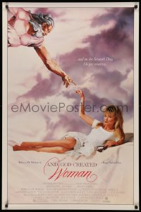 3h0254 AND GOD CREATED WOMAN 1sh 1987 Roger Vadim directed, remake starring sexy Rebecca De Mornay!