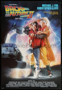 3h0267 BACK TO THE FUTURE II 1sh 1989 Michael J. Fox as Marty, synchronize your watches!