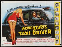 3h0771 ADVENTURES OF A TAXI DRIVER British quad 1976 Barry Evans, Judy Geeson, sexy wacky artwork!