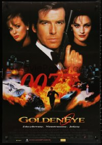 3h0071 GOLDENEYE 27x39 Polish video poster 1995 Pierce Brosnan as secret agent James Bond 007!