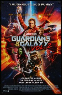 3h0072 GUARDIANS OF THE GALAXY VOL. 2 26x40 Canadian video poster 2017 Chris Pratt, Saldana, cast image!