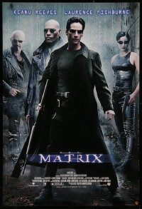 3h0073 MATRIX 27x40 video poster 1999 Keanu Reeves, Carrie-Anne Moss, Laurence Fishburne, Wachowskis