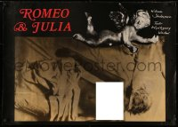 3h0059 ROMEO & JULIET stage play Polish 27x37 1979 William Shakespeare, design by Andrzej Klimowski!