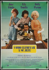 3h0950 9 TO 5 Spanish 1981 Dolly Parton, Jane Fonda & Lily Tomlin w/tied up Dabney Coleman!