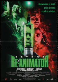 3h0954 BEYOND RE-ANIMATOR Spanish 2003 Jeffrey Combs as Dr. Herbert West, different horror art!