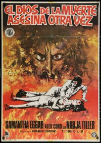 3h0961 DEAD ARE ALIVE Spanish 1972 completely different zombie horror art, there's no place to hide!