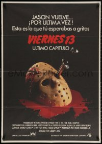 3h0977 FRIDAY THE 13th - THE FINAL CHAPTER Spanish 1984 Part IV, slasher sequel, Jason's unlucky day!