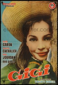 3h0979 GIGI Spanish 1959 completely different smiling portrait of Leslie Caron in the title role!