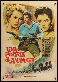 3h0980 GREAT DAY IN THE MORNING Spanish 1963 Robert Stack with two guns, Roman and Mayo by Escobar!