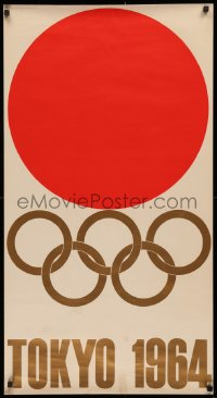 3h0191 1964 SUMMER OLYMPICS 22x41 Japanese special poster 1964 Summer Olympics, art of events!