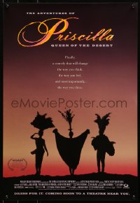 3h0194 ADVENTURES OF PRISCILLA QUEEN OF THE DESERT 2-sided 17x25 special poster 1994 Stamp!