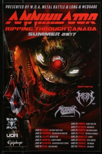 3h0162 ANNIHILATOR 12x19 Canadian music poster 2017 Ripping Through Canada, wild different art!