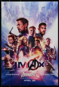 3h0008 AVENGERS: ENDGAME IMAX mini poster 2019 Marvel Comics, cool montage with Hemsworth & top cast!
