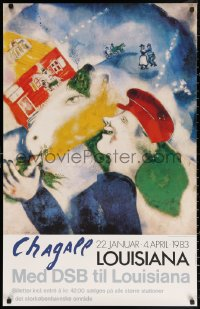 3h0046 CHAGALL 24x38 Danish museum/art exhibition 1983 man and horse, La vie paysann, Peasant Life!