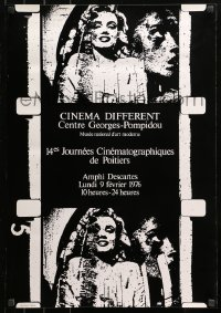 3h0047 CINEMA DIFFERENT 20x29 French museum/art exhibition 1976 different images of Marilyn Monroe!