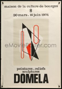 3h0048 DOMELA 21x30 French museum/art exhibition 1974 cool different modern art by Cesar!