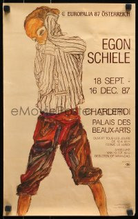 3h0049 EGON SCHIELE 12x20 Belgian museum/art exhibition 1987 cool full-length art by the artist!