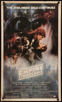 3h0006 EMPIRE STRIKES BACK Topps poster 1981 George Lucas sci-fi classic, GWTW art by Roger Kastel!