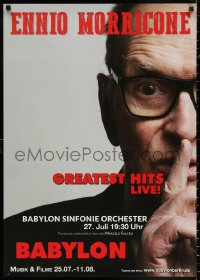 3h0032 ENNIO MORRICONE BABYLON 23x33 German film festival poster 2010s close-up image of the legend!