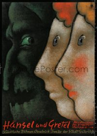 3h0064 HANSEL UND GRETEL 23x33 German stage poster 1985 them and the witch by Mieczyslaw Gorowski!