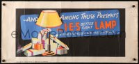 3h0023 IES LAMP 11x24 advertising poster 1937 cool art of Christmas gift lamp in between presents!