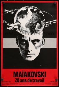 3h0052 MAIAKOVSKI 16x24 French museum/art exhibition 1975 Vladimir Mayakovsky, wild different art!