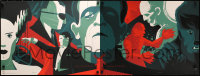 3h0080 TOM WHALEN'S UNIVERSAL MONSTERS #181/230 standard edition diptych 18x48 art print 2013 art!