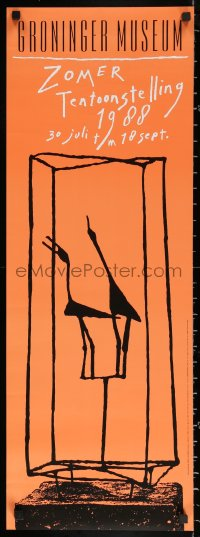 3h0057 ZOMER TENTOONSTELLING 12x33 Dutch museum/art exhibition 1988 art of birds by Carel Visser!