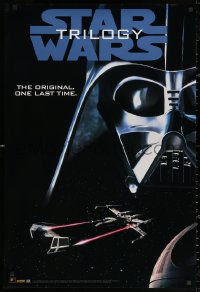 3h0077 STAR WARS TRILOGY 27x40 video poster 1995 Lucas, Empire Strikes Back, Return of the Jedi!