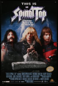 3h0079 THIS IS SPINAL TAP 27x40 video poster R2000 Rob Reiner heavy metal rock & roll cult classic!