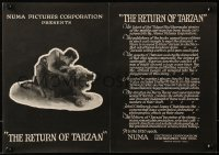 3h0002 REVENGE OF TARZAN trade ad 1920 Gene Pollar in the famous title role, 'Return of Tarzan'!
