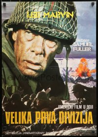 3h1026 BIG RED ONE Yugoslavian 19x27 1980 directed by Samuel Fuller, Lee Marvin in WWII!