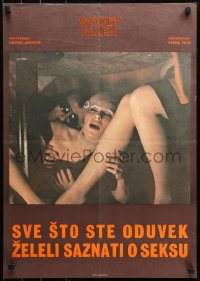 3h1046 EVERYTHING YOU ALWAYS WANTED TO KNOW ABOUT SEX Yugoslavian 19x27 1972 Woody Allen, Carradine!