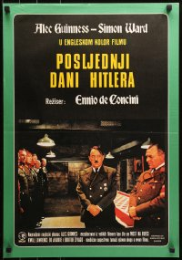 3h1055 HITLER: THE LAST TEN DAYS Yugoslavian 19x27 1973 Alec Guinness as Adolf, Kunstmann as Braun!