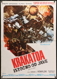 3h1059 KRAKATOA EAST OF JAVA Cinerama Yugoslavian 20x17 1969 day that shook the Earth, McCarthy art!