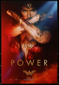 3h0007 WONDER WOMAN group of 3 mini posters 2017 sexiest Gal Gadot in title role, Power, Courage!